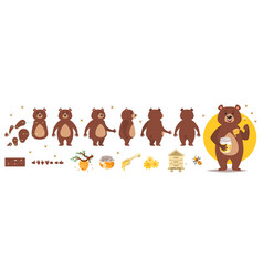 bear character for animation vector image
