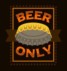 beer cap print poster label sign design vector image