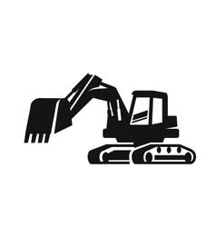 black Excavator vector image