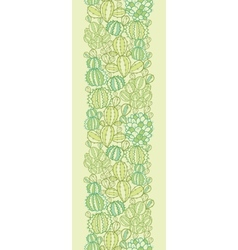 Cactus plants texture vertical seamless pattern vector image