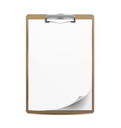 clipboard a4 size top view blank sheet vector image