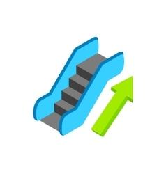 Escalator isometric 3d icon vector