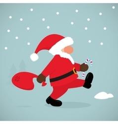 Funny Santa Claus vector image vector image