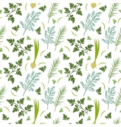 Herbs seamless pattern Parsley dill razmarin vector image