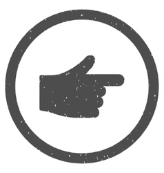 Index hand icon rubber stamp vector