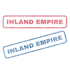 Inland empire textile stamps vector