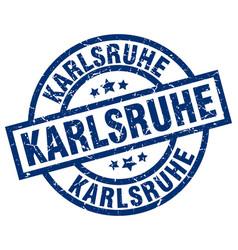 Karlsruhe blue round grunge stamp vector