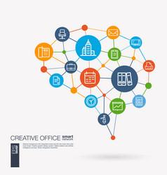 office work space people teamwork workspace vector image vector image
