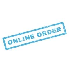 Online order rubber stamp vector