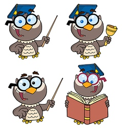 Owl Teacher- Collection vector image vector image