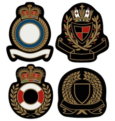 royal emblem badge shield vector image vector image