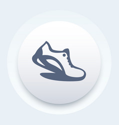 running icon logo element with running shoe vector image vector image