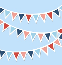 Set of multicolored flat buntings garlands vector image vector image