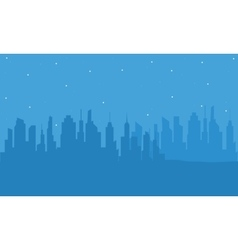 Silhouette of building with blue backgrounds vector image