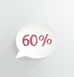 Sixty percent discount vector