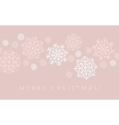 Snowflake winter background in gentle feminine vector