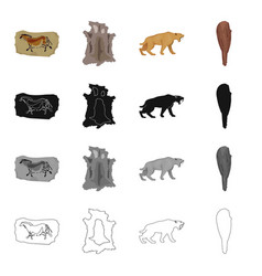 stone age history and other web icon in cartoon vector image