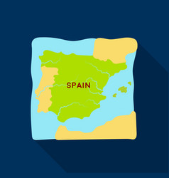 Territory of spain icon in flate style isolated on vector