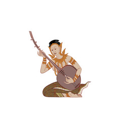 thai traditional tattoo thai painting vector image vector image