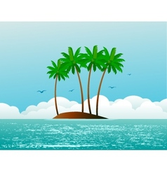 tropical island vector image