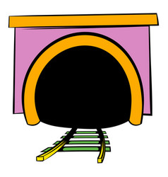 tunnel icon icon cartoon vector image