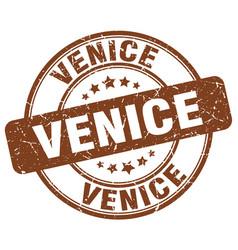 Venice brown grunge round vintage rubber stamp vector