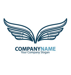 Wings business company or brand icon vector