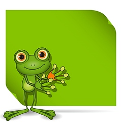 Frog and green background vector image