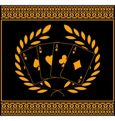 four aces for winners vector image