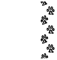 Animal footprint seamless border vector