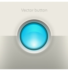 Glossy empty button vector