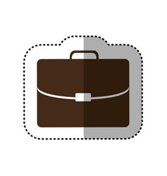 Brown business suitcase icon image vector