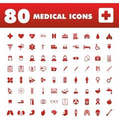 80 medical icons vector