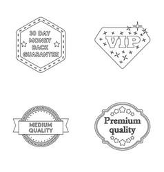 Money back guarantee vip medium qualitypremium vector