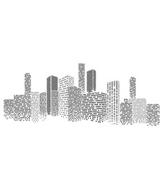 Modern cityscape city buildings perspective vector
