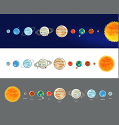 Astronomy space solar system infographics vector