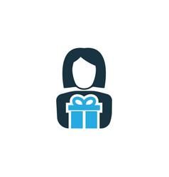 Gift to mother colorful icon symbol premium vector