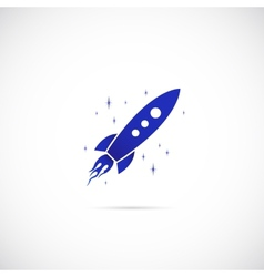 Rocket in space symbol icon vector