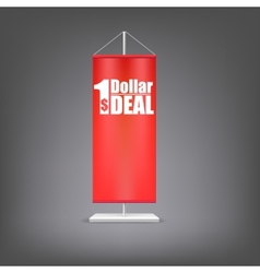 Dollar deal vertical red flag at the pillar vector