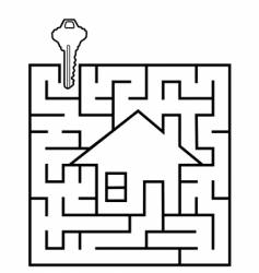 real estate maze vector image