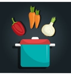 Healthy food vegetables vector