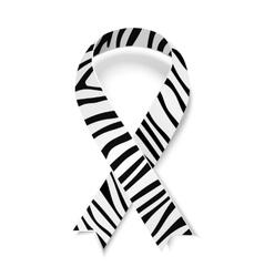 Zebra-print ribbon emblem vector