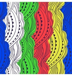 Pattern Color Waves vector image