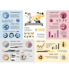 Gym Fitness Infographics Set vector image