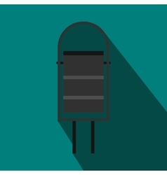 Trash bin for street icon flat style vector