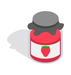 Bank strawberry jam icon isometric 3d style vector