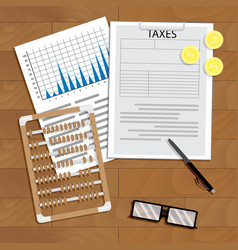 analysis of payment of taxes vector image vector image