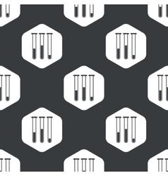 Black hexagon test-tubes pattern vector