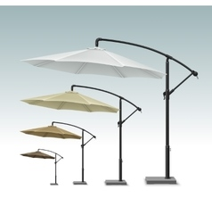 Blank patio outdoor beach cafe umbrella parasol vector