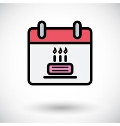 Calendar with cake vector